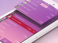 Viber iOS 7 Concept #user #flat #chat #7 #ux #ramotion #design #application #interface #ui #experience #iphone #app #ios #communication #gui #viber