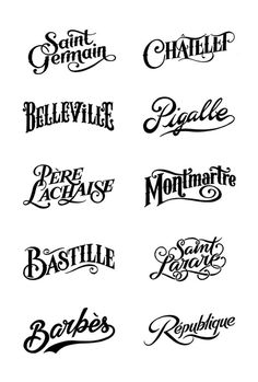 Bleu De Paname #type #script #typography