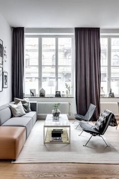 Apartment, living room, black & white, dinning room, bedroom