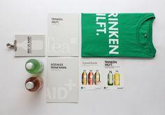 merch material #print #beverages #charitea #lemonaid
