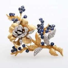 Flower Branch Brooch