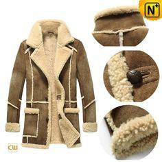 Leather Sheepskin Coat for Men CW878127 #sheepskin #leather #coat