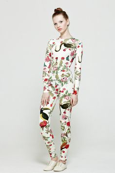 Lesia Paramonova #clothing #pattern #garden #body #illustration #fashion #flowers