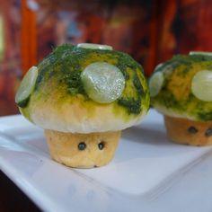 Pizza Rolls Super Mario Bros. 1-up mushrooms style #snes #recipe #food #pizza