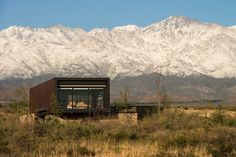 Evans House Integrated into the Argentine Vineyards Landscape