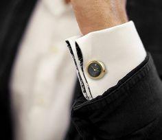 Peugeot Gold-tone Cufflink Watch Gift Set #tech #gadget #ideas #gift #cool