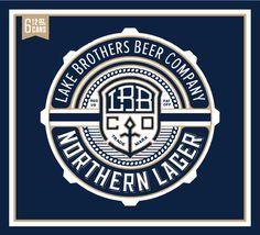 badge, design, label, beer, blue, lager