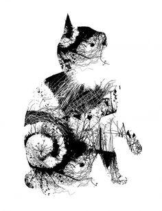 Chris Keegan Illustration and prints #chris #london #print #cat #keegan #londo #illustration #nature #art #graphics #animal #club