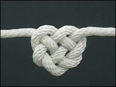 Tieing the knot Heart Knot #heart #knot #rope
