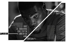 Rivista NBA / Spreads 2012 13 by Francesco Poroli #editorial