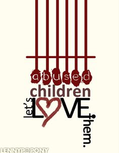 This image is an advocacy for the abused children.