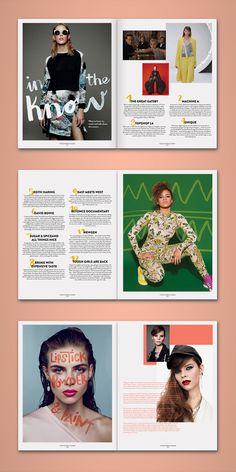 pazmartinezcapuz.com #layout #lettering #cover #magazine #handwriting #summer #editorial design #spreads #2013 #spring #topshop