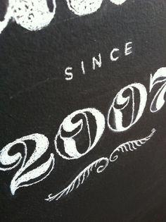 vaalbuns_chalkboard lettering_05 #illustration #lettering #chalk