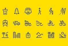 Faralong.com by Proxy #icons #pictogram #yellow