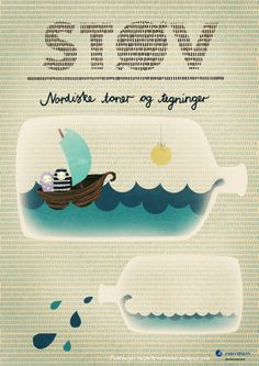 Michelle Carlslund Illustration: STØV #sun #water #nordic #sailor #danish #illustration #sea #boat #poster #copenhagen #sail #waves