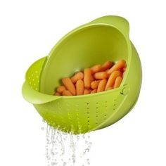 Reduce clutter in you kitchen this bowl + strainer in one.