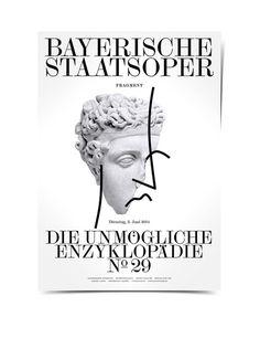 Bayerische Staatsoper Poster Bureau Mirko Borsche #print #poster