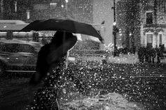 http://www.flickr.com/photos/30096797@N04/8550435442 #umbrella #photo #night #rain #light