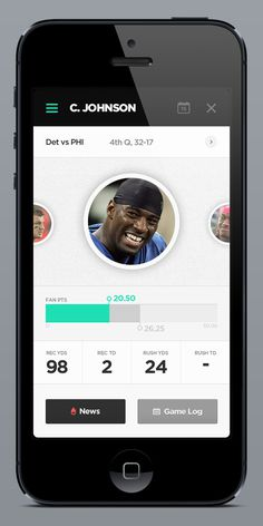 Fantasy Leagues App on Behance #mobile