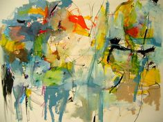 "Saatchi Online Artist: Mary Ann Wakeley; Mixed Media, Painting ""Cool Caravan"" #abstract #painting #art"