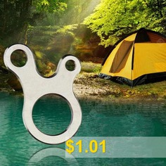 Outdoor #EDC #Equipment #3-hole #Stainless #Steel #Multi-purpose #Fast #Knot #Rope #Buckle #Tool #- #SILVER