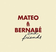 mateo and bernabe. destacado. www.moruba.es #logo #red #wine