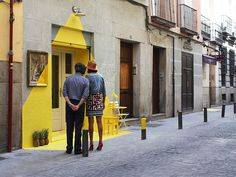 """CJWHO â""""¢ ((fos) by (fos) (fos) is the name of the first...) #madrid #design #restaurant #illustration #art #street #clever"""