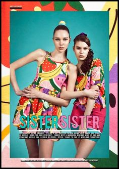 Sister Sister | Volt Café | by Volt Magazine #lazy #design #graphic #volt #oaf #photography #art #fashion #layout #magazine #typography