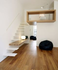 "CJWHO â""¢ (Casa Studio, Turin, Italy by Studioata The...) #design #interiors #wood #stairs #clever"