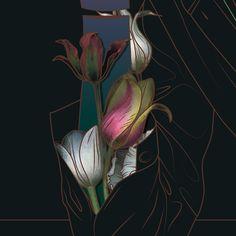 Tulips. Detail by Maria Umiewska