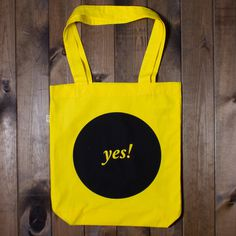 Yes! Tote Bag #typography #fashion #tote
