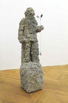 Nick van Woert #nick #sculpture #woert #plaster #van #statue