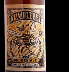 Ballistic Brewing Bumblebee Golden Ale #packaging #beer #label #bottle