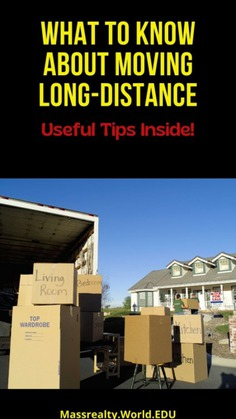 What to Know About Long Distance Moving Infographic