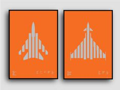 Tornado and Typhoon available on Kickstarter til 4th May Metallic silver on sun-blinding orange plike paper