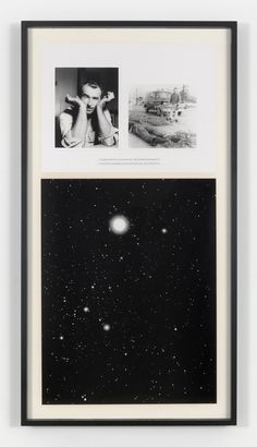 CHARLES GAINES NIGHT/ CRIMES: Canis Major, 1995, framed photo and silkscreened text framed: 70 3/4 x 37 3/4 in. (179.7 x 95.9 cm). © Charle