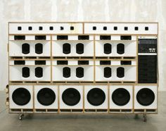 Tom Sachs: Work / Toyan's #installation #sachs #sound #art #speakers