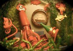 All sizes   Squid pirate   Flickr - Photo Sharing! #seahorse #bottle #christmas #shine #tmbg #sea #scene #squid