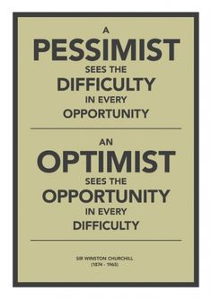 Pessimist / Optimist Art Print by Getrealpaid | Society6 #poster #typography