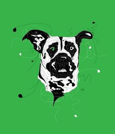 Yellow Bird Machine -- Illustrations by Amy Martino #green #graphic #illustration #animal #dog