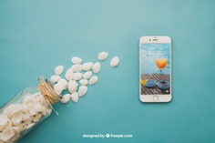 Beach concept with smartphone Free Psd. See more inspiration related to Mockup, Summer, Beach, Sea, Sun, Holiday, Smartphone, Mock up, Decorative, Vacation, Summer beach, Marine, Up, Season, Concept, Shells, Composition, Mock, Summertime and Seasonal on Freepik.