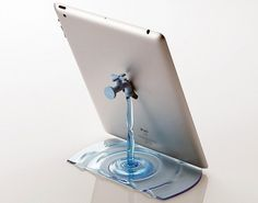 Buamai - nendo: faucet stand for elecom #accessories #water #stand #ipad #blue