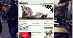 Klipp og Lim - Sorgenfri Web #klippoglim #photography #web #layout #animal #typography
