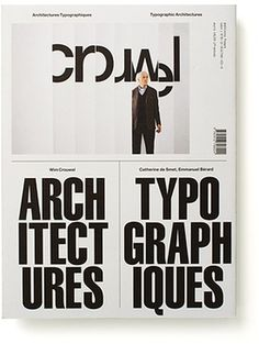 Typographic Architect. 2 - Experimental Jetset #print #typography