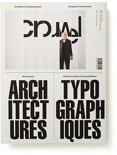 Typographic Architect. 2 - Experimental Jetset #print #typography