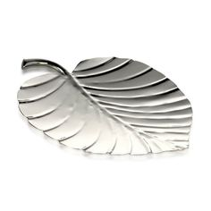 Palm Platter Steel Shiny 27cm x 22.5cm