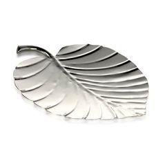 Palm Platter Steel Shiny 27cm x 22.5cm