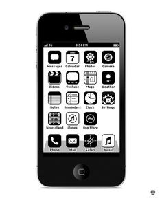 iPhone RetroOS_Preview_680 #white #retro #black #iphone #ios