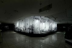 artless Inc. | news and portfolio : * installation & interior : ISETAN | the stage (new year 2011) #installation #kawakami #transparent #art #shun
