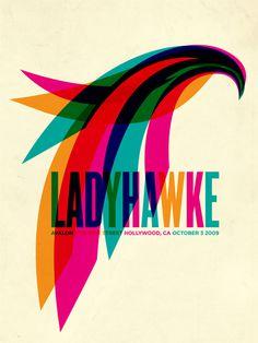 Ladyhawke Aaron Gresham // Creative Director + Brand Designer #poster